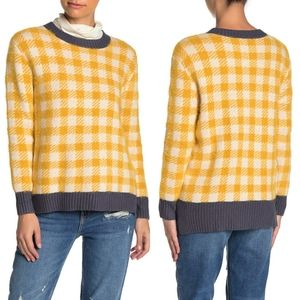 Susina Buffalo Checkered Print Pullover